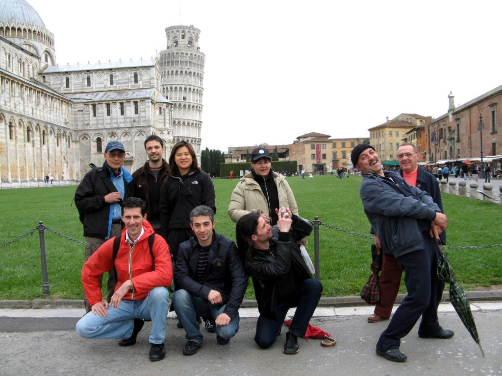 Gruppo JKD CAAM a Pisa con Ted Wong