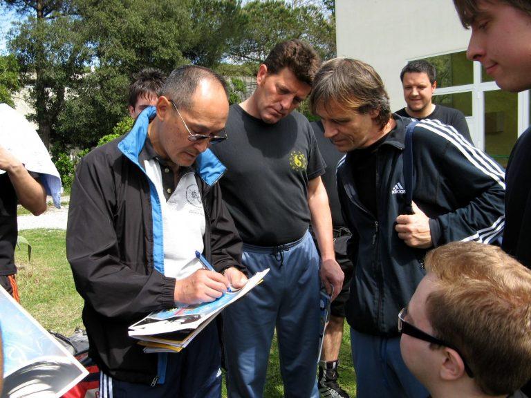 Ted Wong seminario CAAM in Italia - autografi