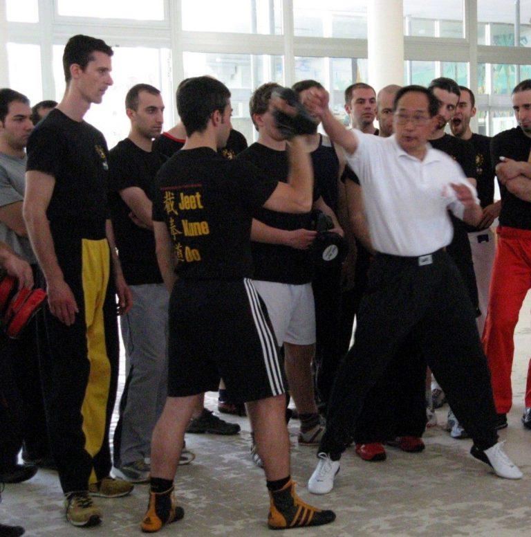 Ted Wong seminar jeet kune do CAAM MIlano