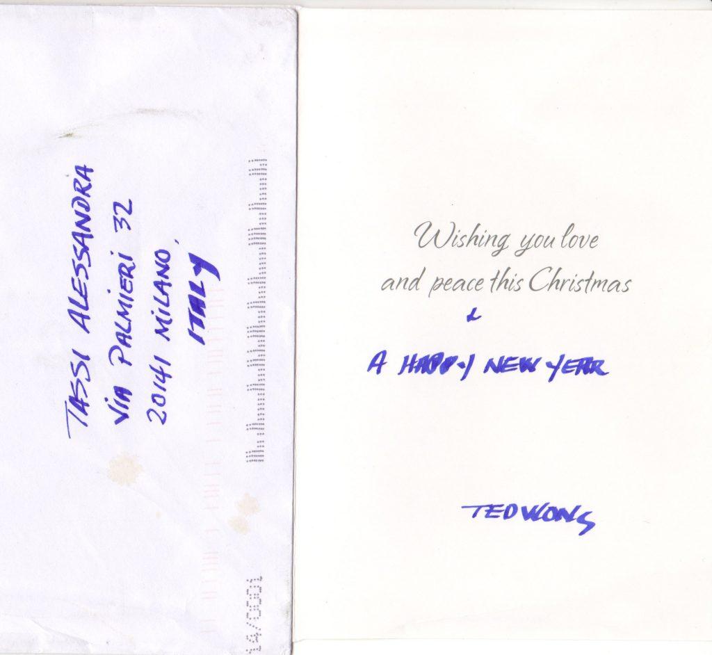 cartolina di auguri di Ted Wong